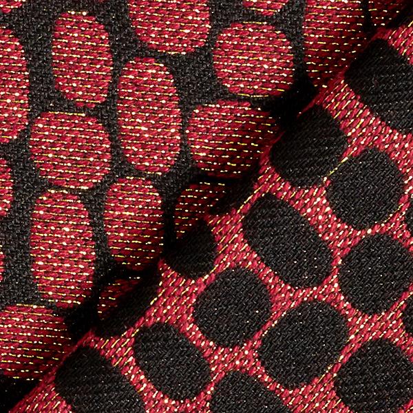 Jacquard d'habillement Taches de paillettes – rouge rouille/noir