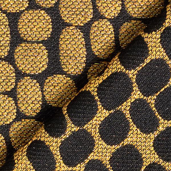 Jacquard d'habillement Taches de paillettes – moutarde/noir