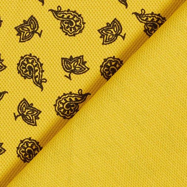 Jersey coton Piqué Paisley – jaune soleil