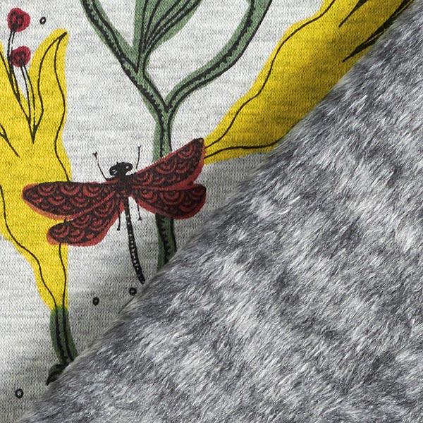 Polaire alpin Jardin fleuri – gris