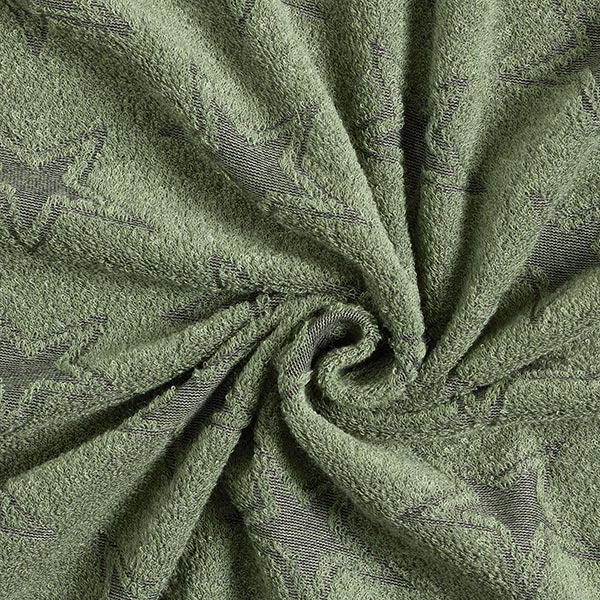 Tissu éponge doux Double face Étoiles – vert/noir
