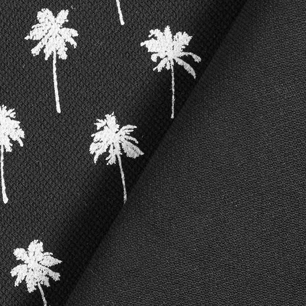 Jersey coton Piqué Palmiers – noir