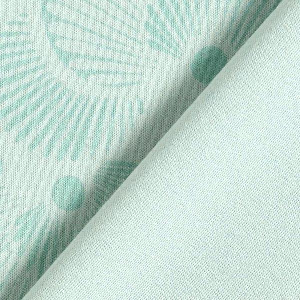 Jersey interlock douillet en coton bio Coquillages – vert menthe