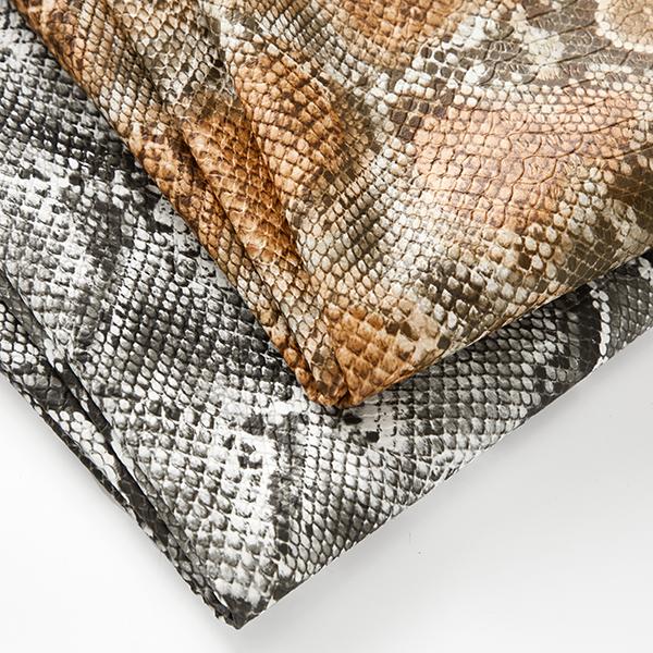 Similicuir Peau de serpent – gris