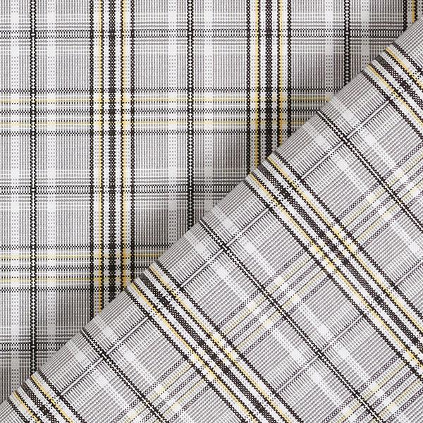 Tissu pour chemise Mélange viscose Motif carreaux – jaune