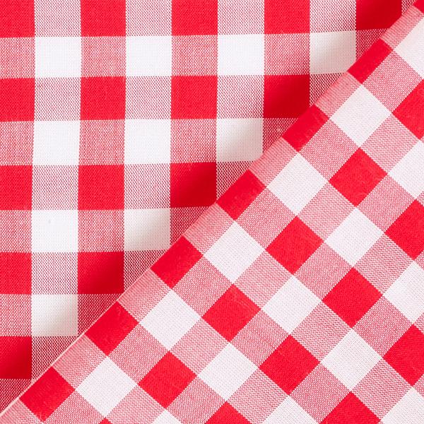 Tissu fin en viscose Carreaux boulanger – rouge/blanc