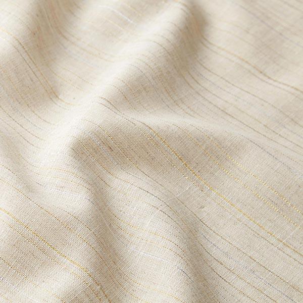 Mélange lin coton avec rayures lurex – nature