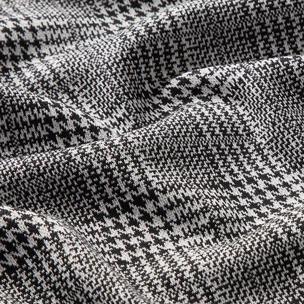 Jacquard maille Mélange viscose Prince-de-Galles – noir/blanc