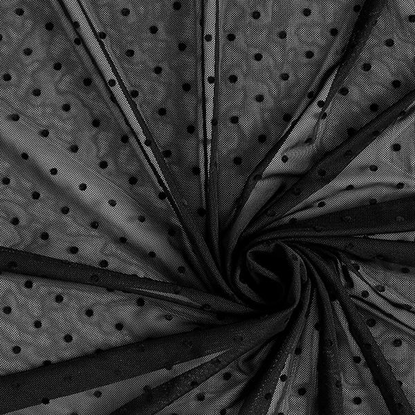 Softmesh Points floqués – noir