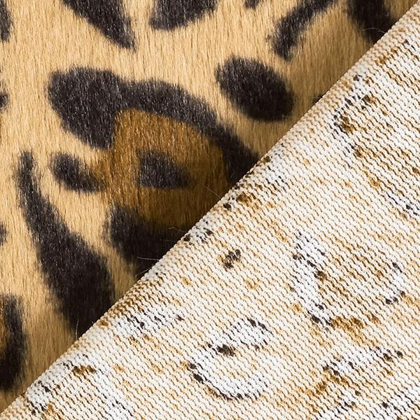Fourrure synthétique Motif léopard – marron clair
