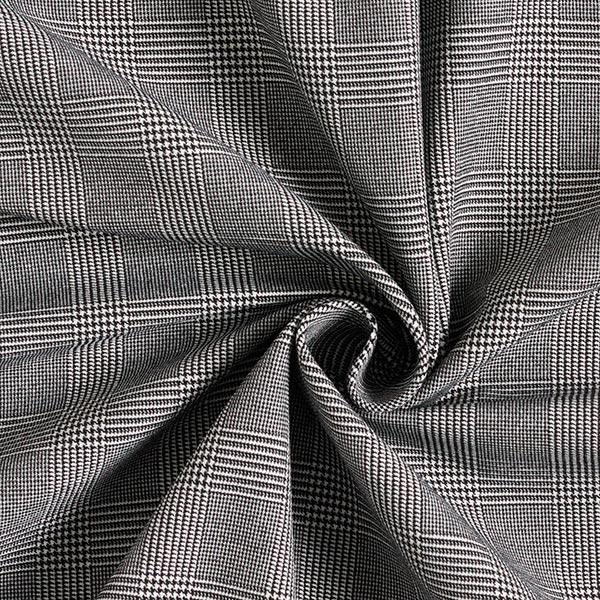 Jacquard élastique en longueur Prince-de-Galles – noir/blanc