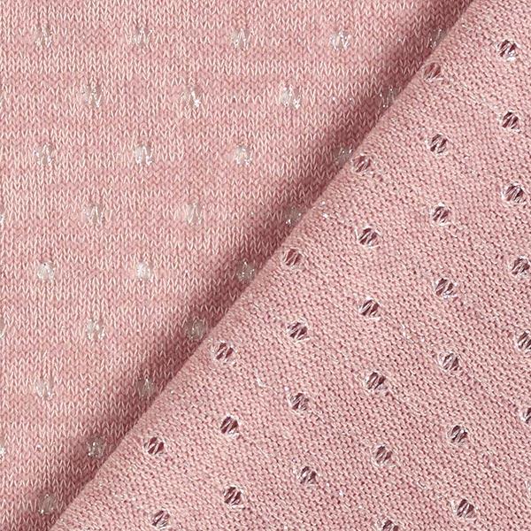 Tissu maille Motif ajouré à paillettes – rose