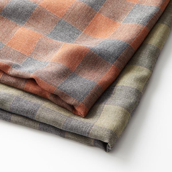 Tissu de chemisier viscose carreau lurex – caramel/gris