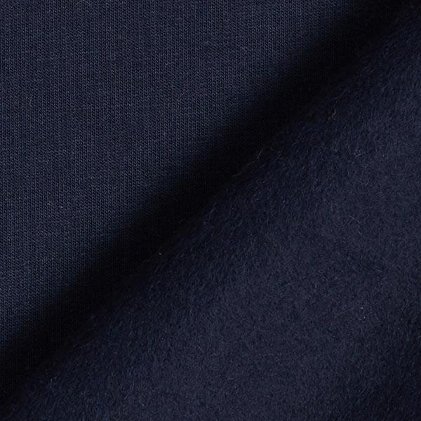Jersey de coton gratté Uni – bleu marine