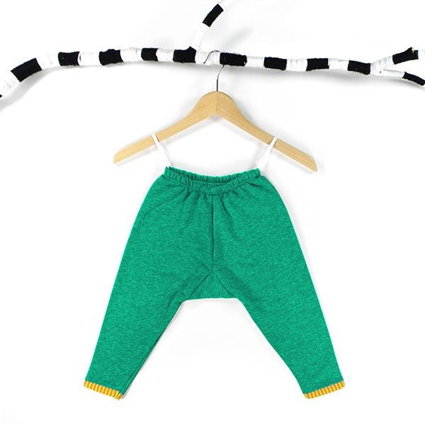 Jersey de coton gratté Uni – vert herbe