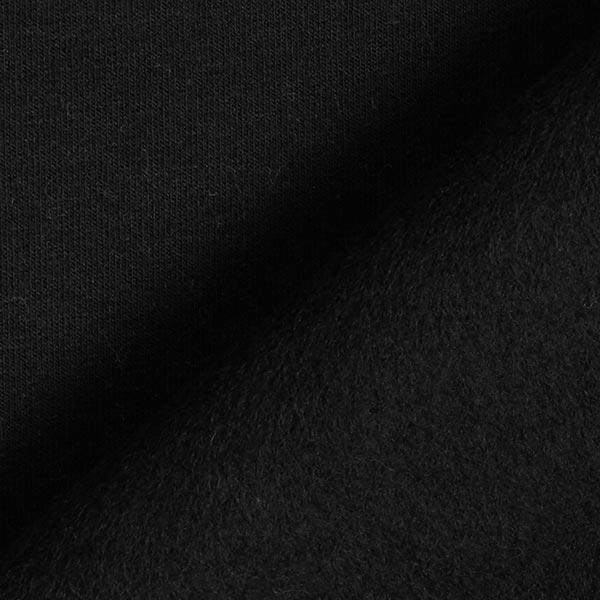 Jersey de coton gratté Uni – noir