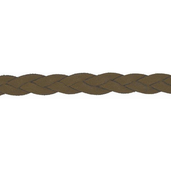 Cordon tressé [ Ø 10 mm ] – marron foncé