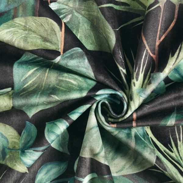Velours de décoration Feuilles de monstera – vert