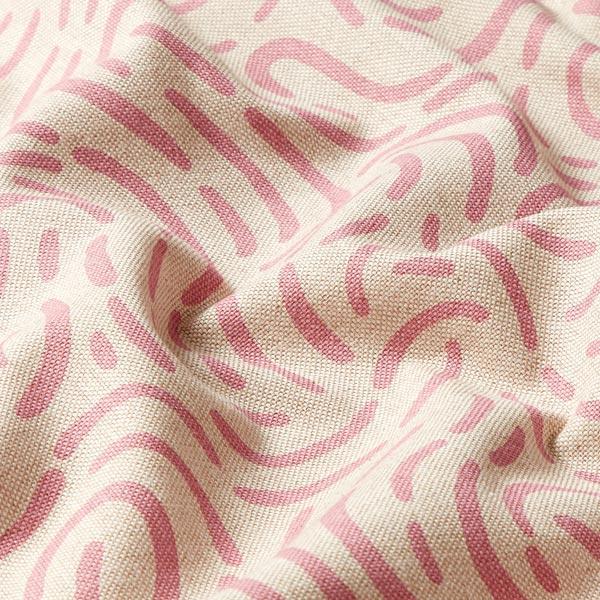 Tissu de décoration Semi-panama Petit rond – rose
