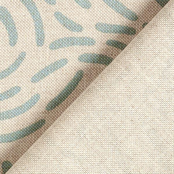 Tissu de décoration Semi-panama Petit rond – vert menthe
