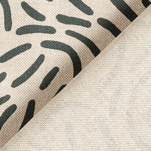 Tissu de décoration Semi-panama Petit rond – vert foncé