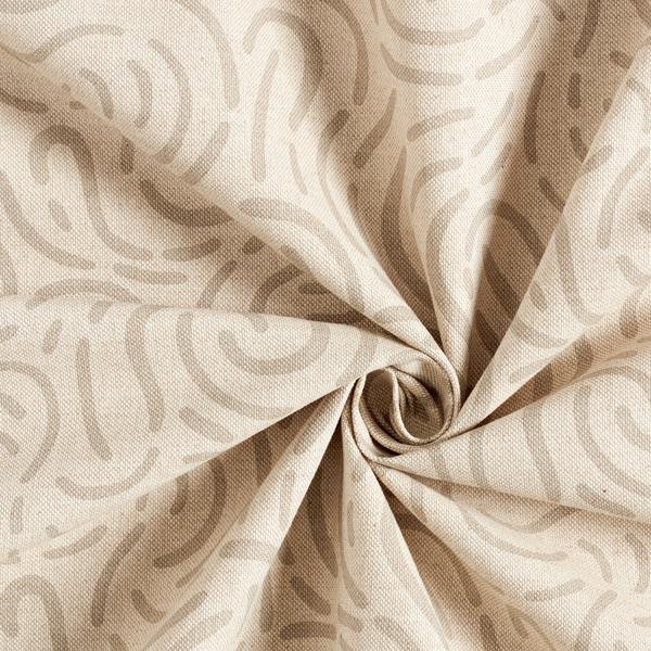 Tissu de décoration Semi-panama Petit rond – nature