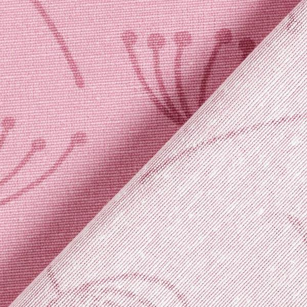 Tissu de décoration Canvas Fleur de pissenlit – rose
