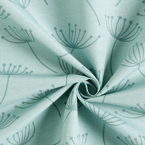 Tissu de décoration Canvas Fleur de pissenlit – vert menthe