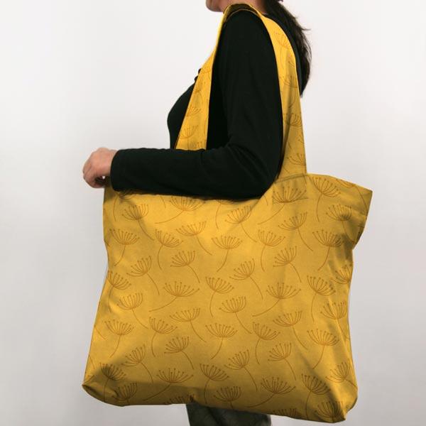 Tissu de décoration Canvas Fleur de pissenlit – moutarde