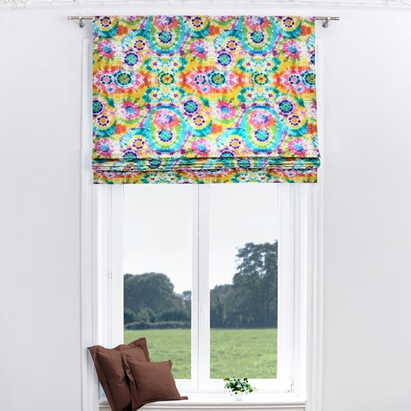 Tissu de décoration Semi-panama Batik Multicolore
