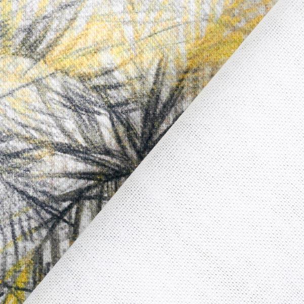 Tissu de décoration Semi-panama Palmiers – gris