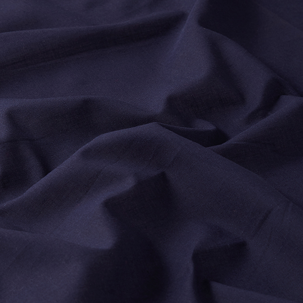 Batiste de coton Uni – bleu marine