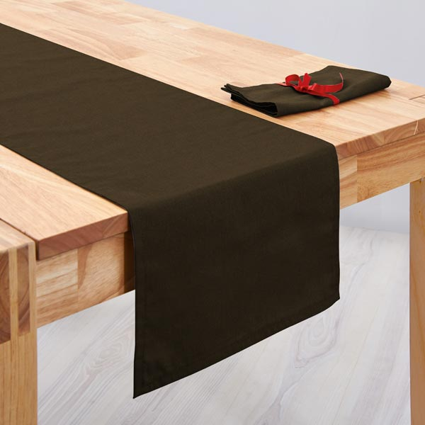 Tissu de décoration Canvas – chocolat