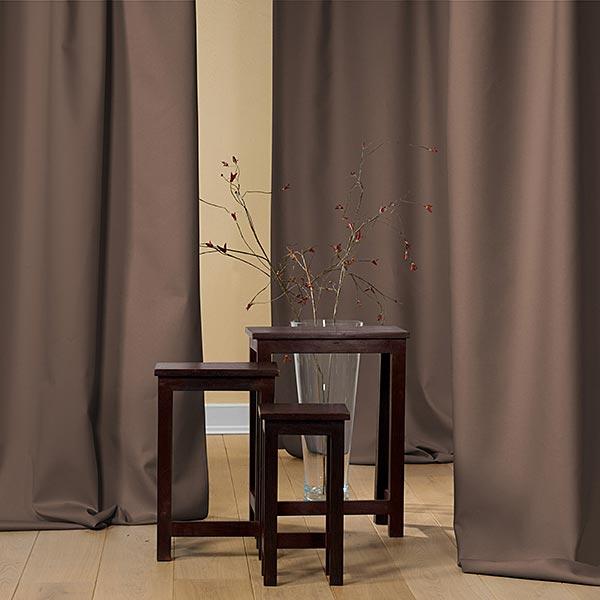 Tissu opaque – marron foncé