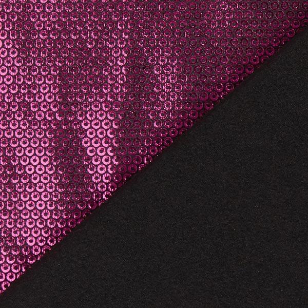 Jersey feuille Aspect paillettes – rose vif