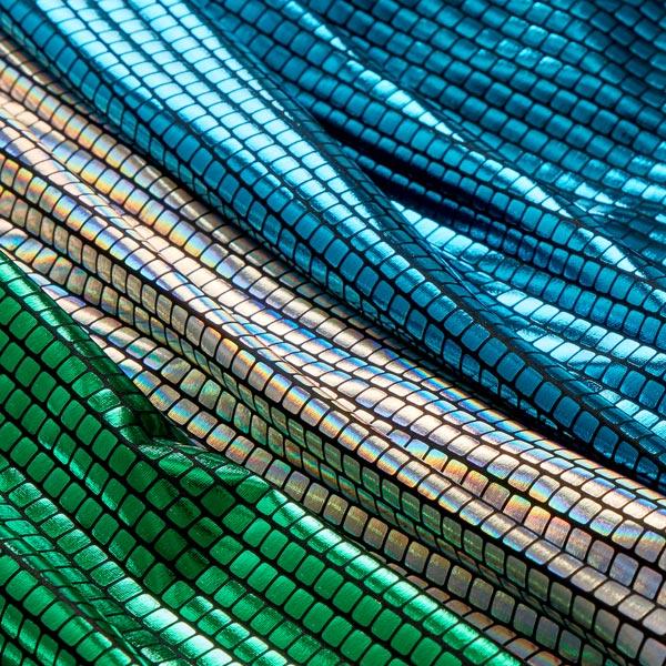 Jersey feuille Carrés 6 x 6 mm – vert herbe