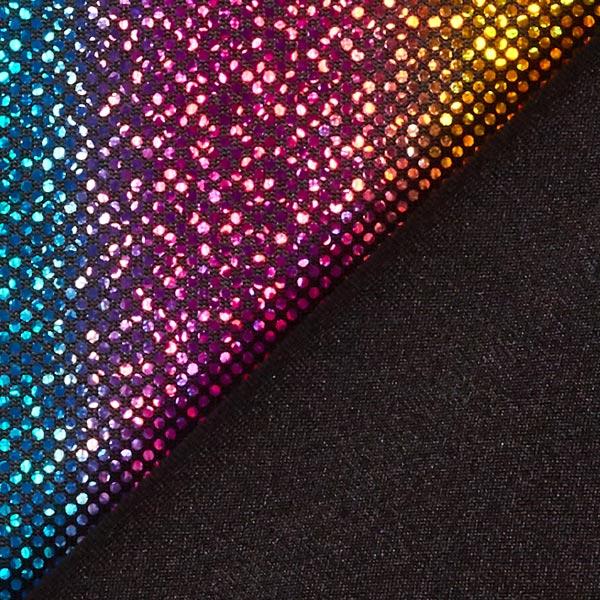 Jersey feuille Points arc-en-ciel 1 mm – mélange de couleurs
