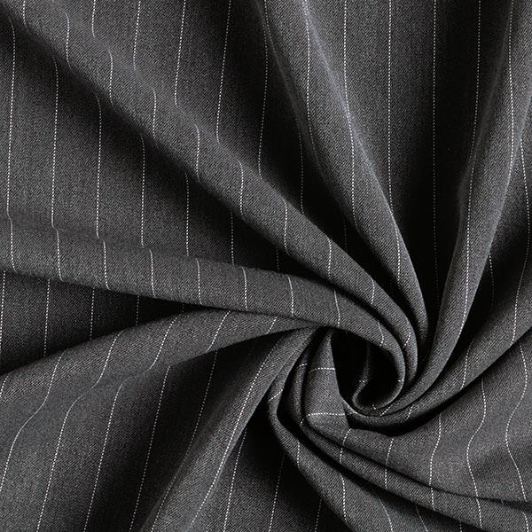 Tissu de costume fil-à-fil 16 mm – gris foncé