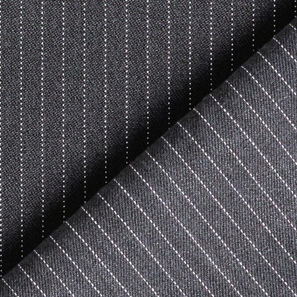 Tissu de costume fil-à-fil Fin 5 mm – gris foncé