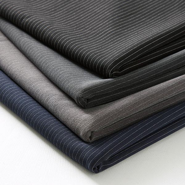 Tissu de costume fil-à-fil Fin 5 mm – noir
