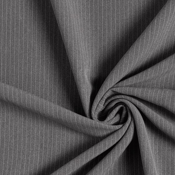 Stretch de pantalon Rayures fines Mince – gris