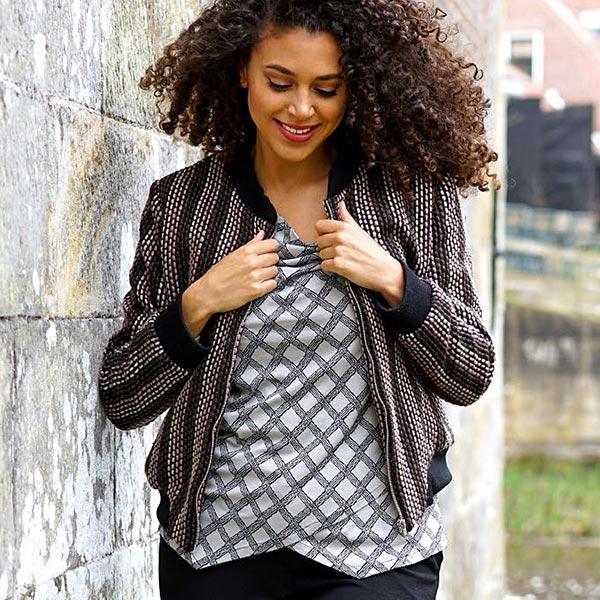 Tissu tricot aspect tissé Tradition créative – argent