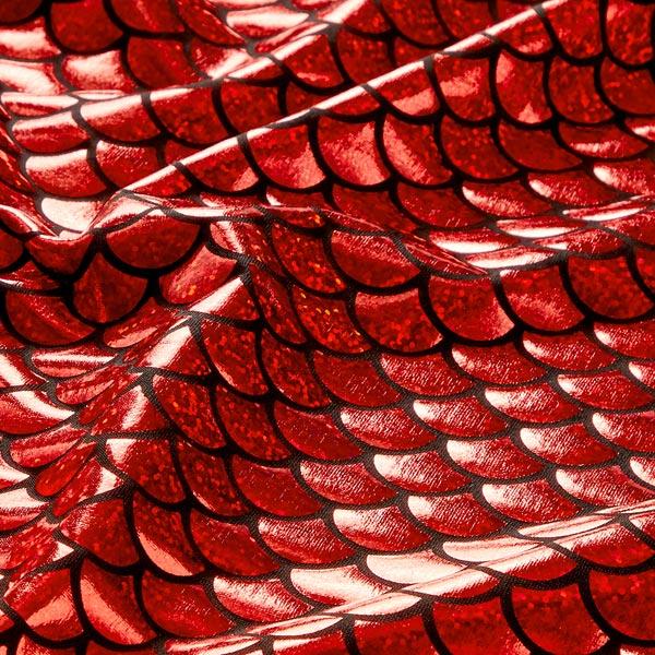 Jersey feuille Écailles grand – rouge vif