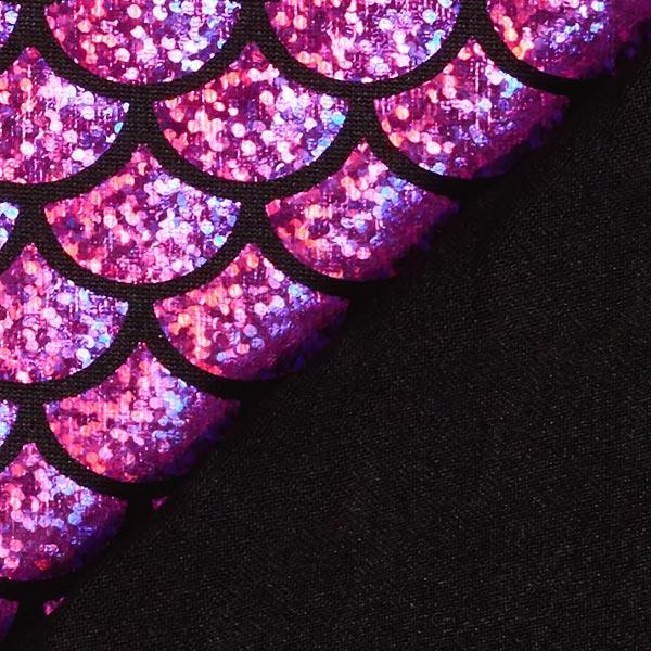 Jersey feuille Écailles grand – rouge violet