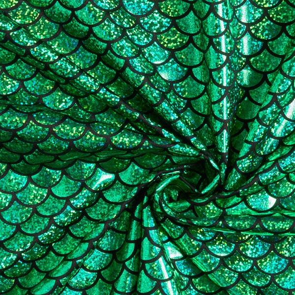 Jersey feuille Écailles grand – vert herbe