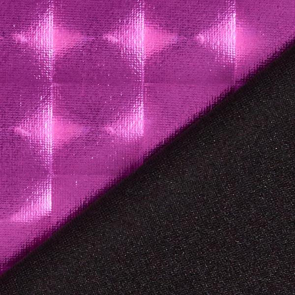 Jersey feuille Hologramme carré 18 x 18 mm – rouge violet