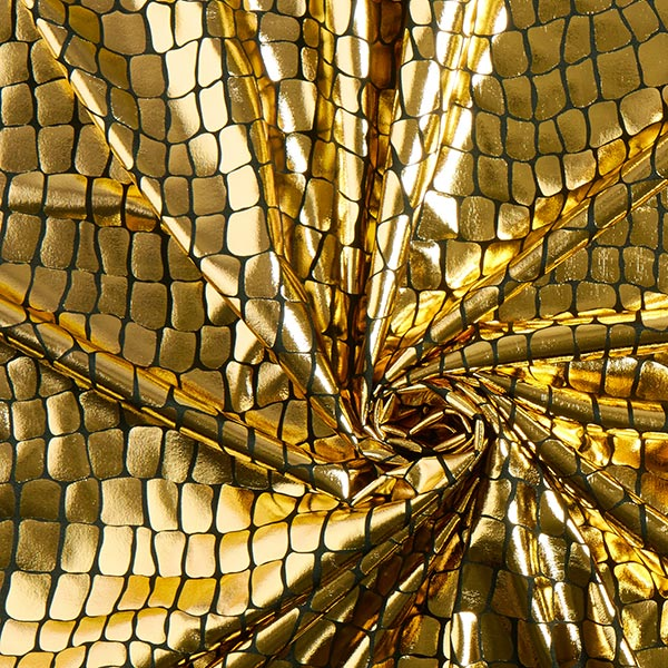 Jersey feuille brillant Reptile – or