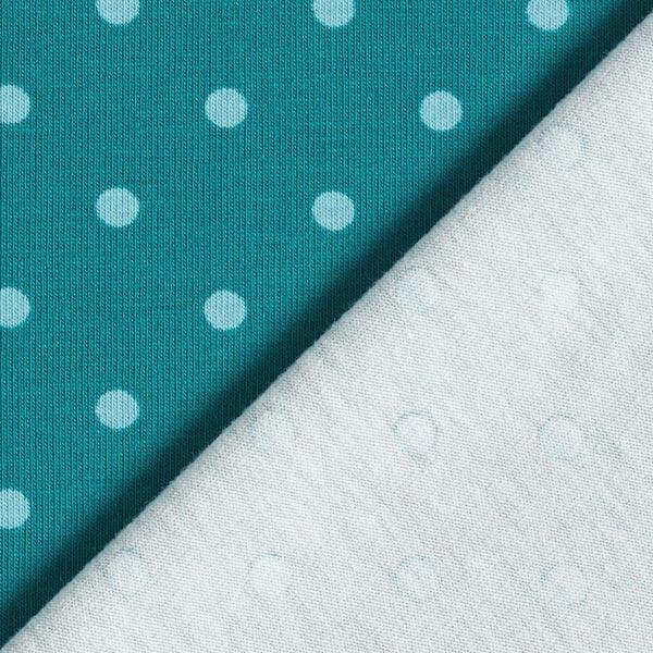 Jersey coton Petits points – pétrole/bleu clair