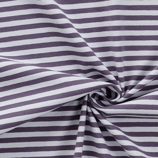 Jersey coton Rayures étroites – gris bleu/gris clair