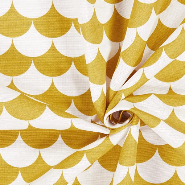 Tissu de décoration Vague 5 – moutarde